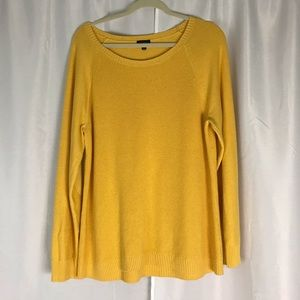 Talbots cozy yellow sweater / elbow patches XL